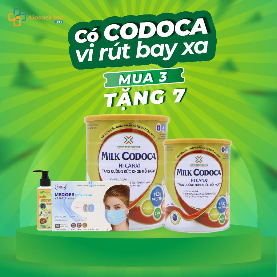 Sữa Milk Codoca  Hi Canxi khuyễn mãi lớn tháng 8